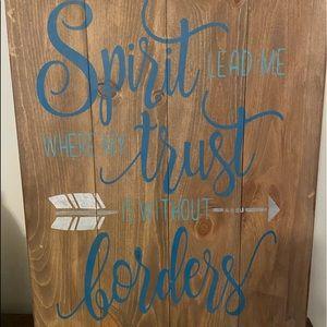 Spirit Lead Me Wooden Sign